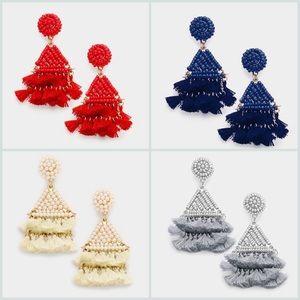 Wonderful Lightweight Seed Bead w/Tassel Earrings